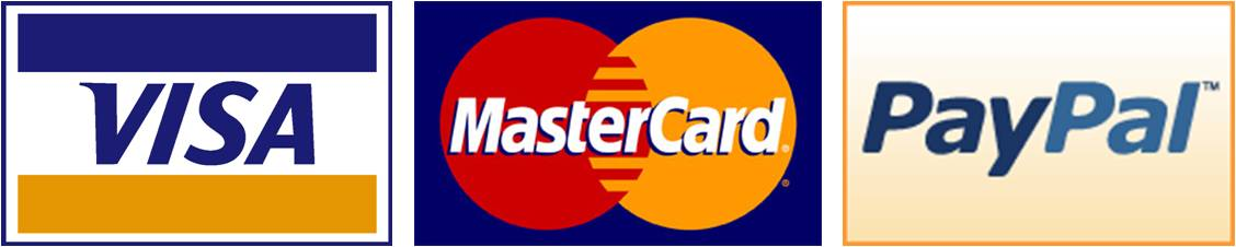 secure payment by Visa, PayPal & Master Card