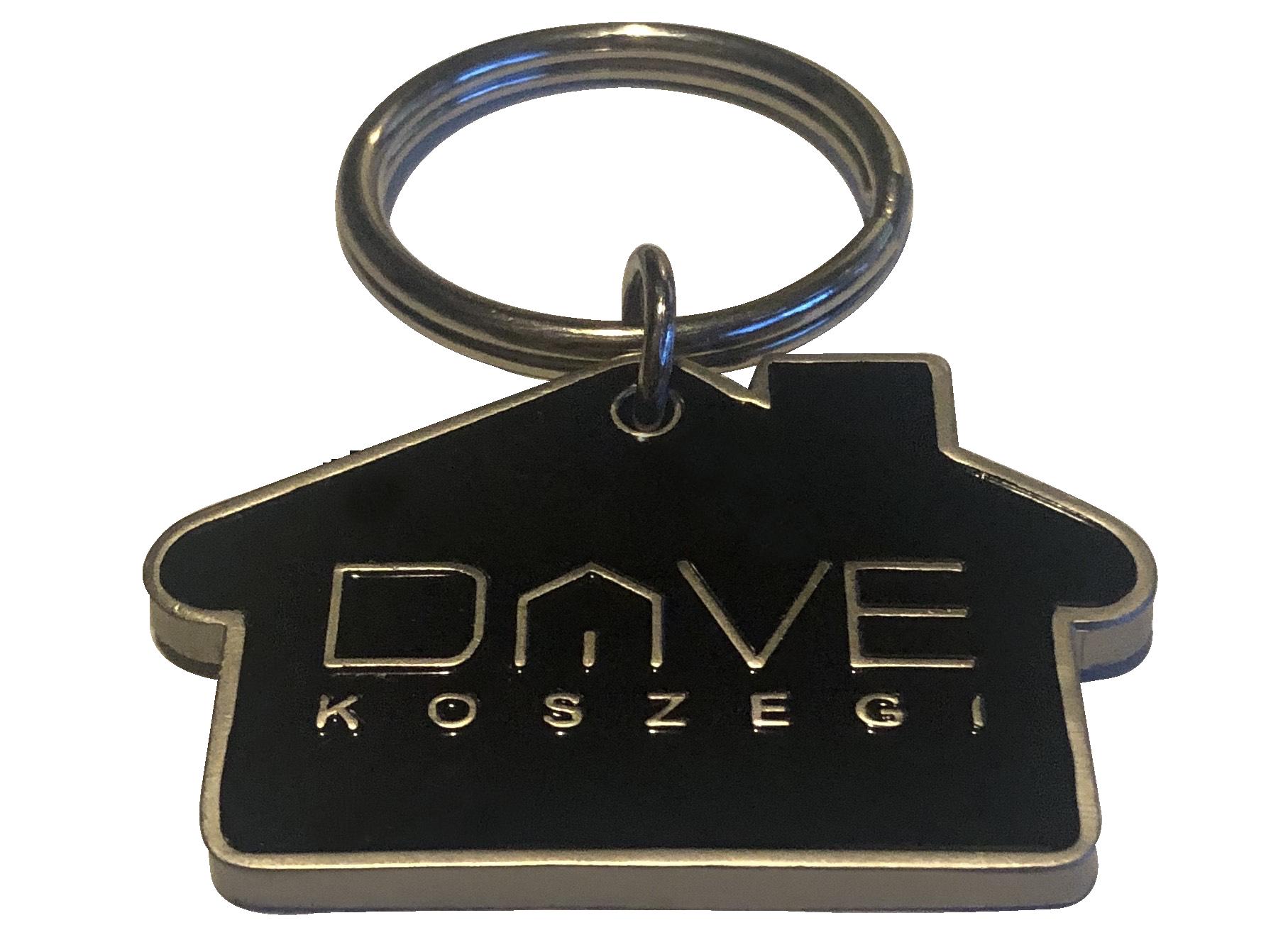 House Shape Metal Key Tag - ON SALE House Shape Metal Key Tag